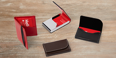 Leather Business Card Holders Leather Card Case – Vistaprint Baby Announcements