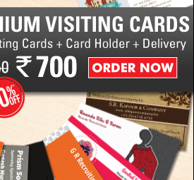 1000 Visiting Cards + Card Holder + Delivery at Rs.700