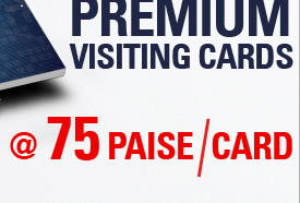 500 Premium Visiting Cards @ 75 Paise per Card