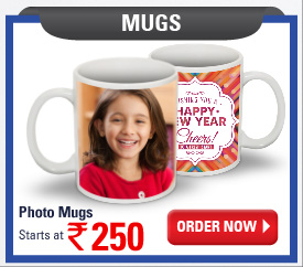 Photo Mugs starts at Rs.250