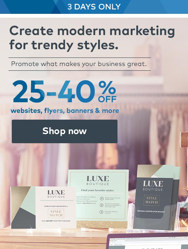 25-40% off websites, flyers, banners & more