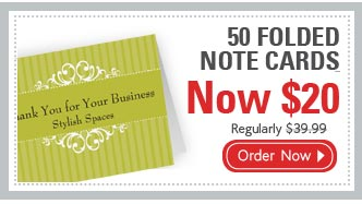 50 FOLDED NOTECARDS Now $20 Regularly $39.99 Order Now