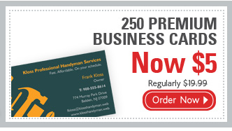 250 PREMIUM BUSINESS CARDS Now $5 Regularly $19.99 Order Now