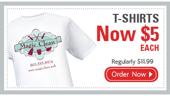 T-SHIRTS Now $5 EACH Regularly $11.99 Order Now