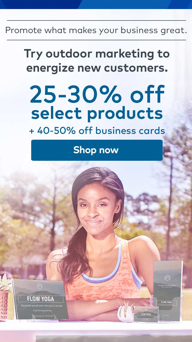 25-30% off select products +50% off business cards. Shop now.